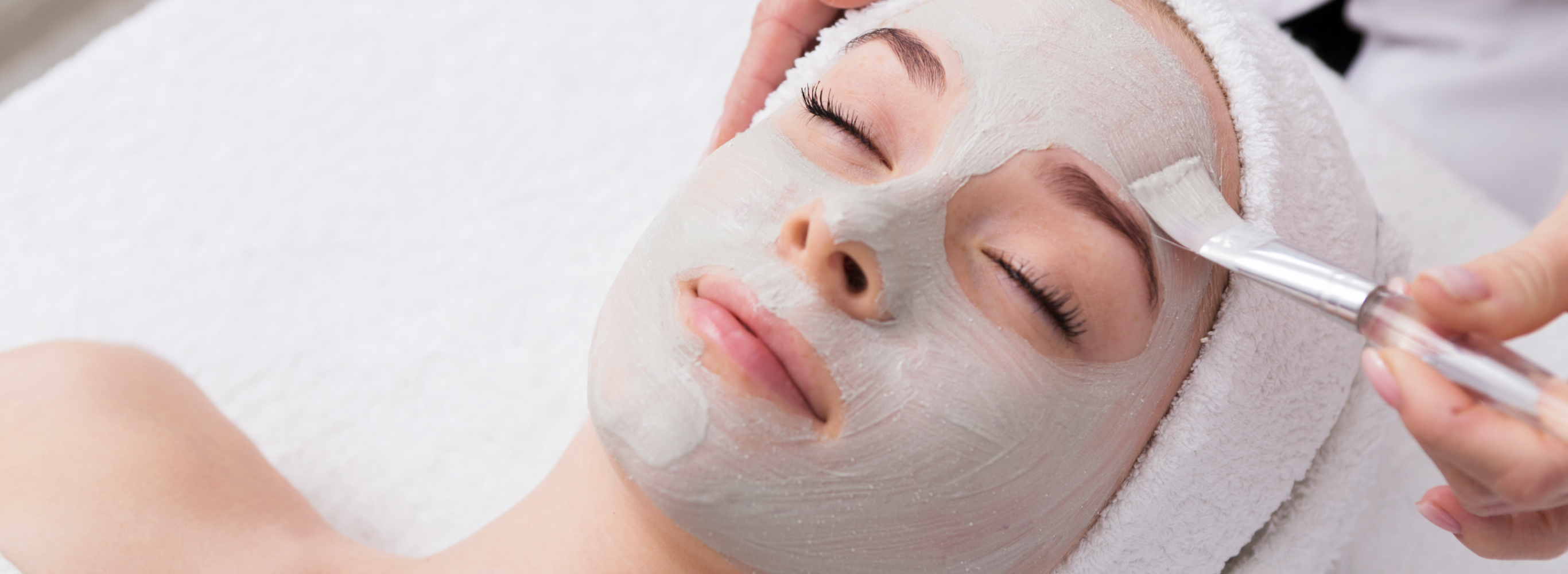 Cle Elum woman getting a clinical facial treatment